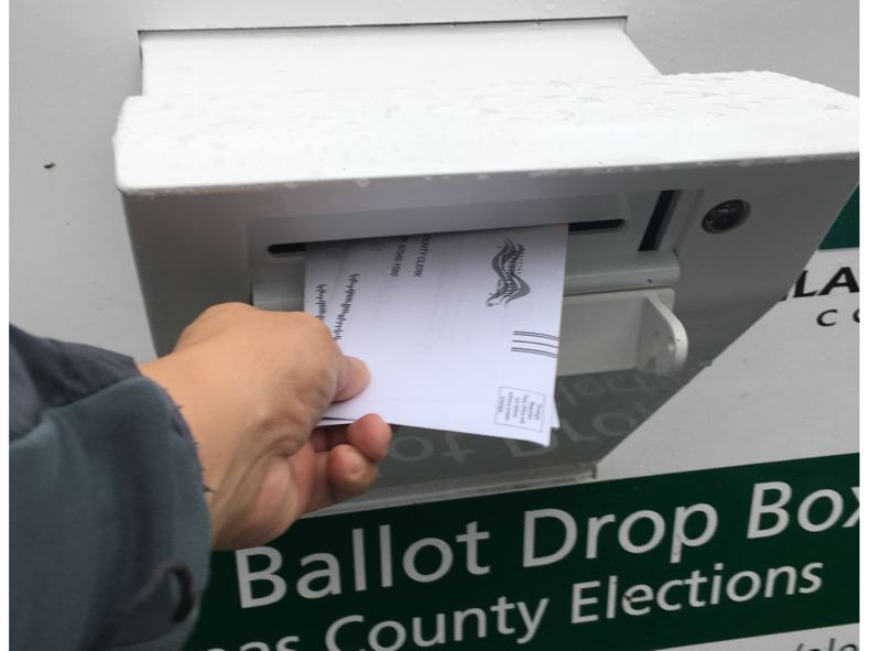PAMPLIN MEDIA GROUP: JAIME VALDEZ - Ballots must be turned in at local drop boxes or to elections offices by 8 p.m. Tuesday, Nov. 6.