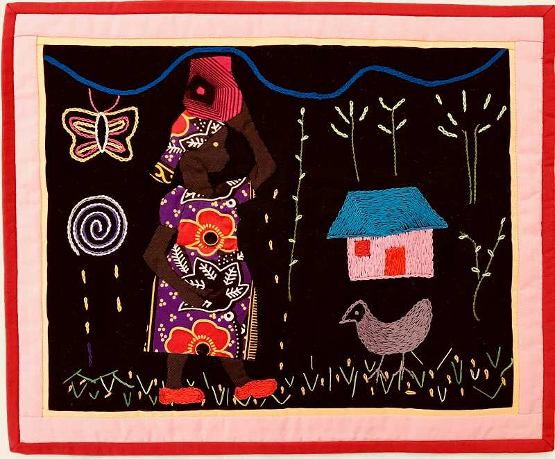 An example of the quilt work done by Kenyan women as part of Quilts for Empowerment.