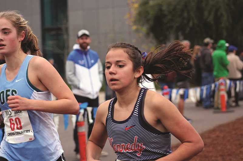 JOE MORELAND - Kennedy's Alejandra Lopez concluded her cross country career with the Trojans by winning the 2018 3A/2A/1A State Championship race on Saturday, the first individual title in program history since 1982.