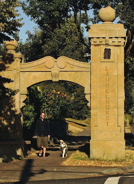CONTRIBUTED - These monuments let visitors know they're entering the Laurelhurst neighborhood.