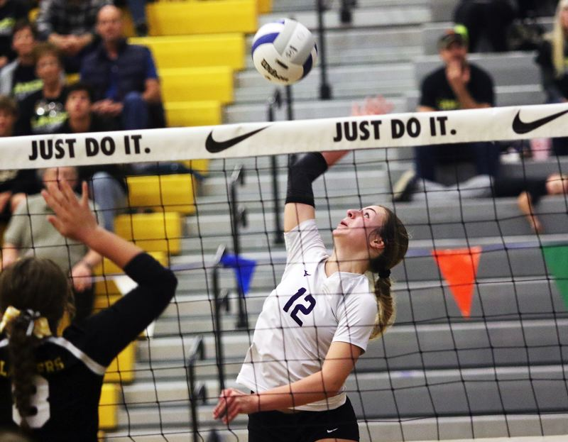 TIMES PHOTO: DAN BROOD - Horizon Christian senior Lauren Eyerly (12) was a second-team Class 3A All-State Tournament selection.