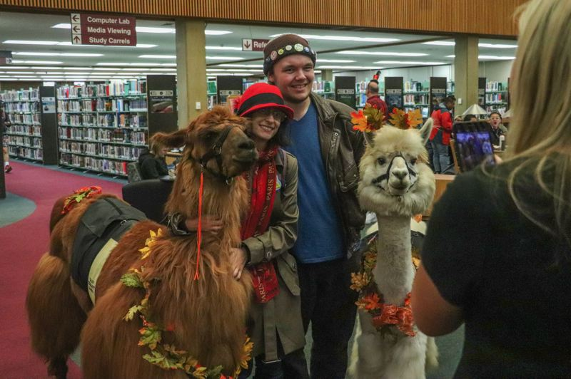 CONTRIBUTED PHOTO: MT. HOOD COMMUNITY COLLEGE - Four big smiles at Mt. Hood Community College.