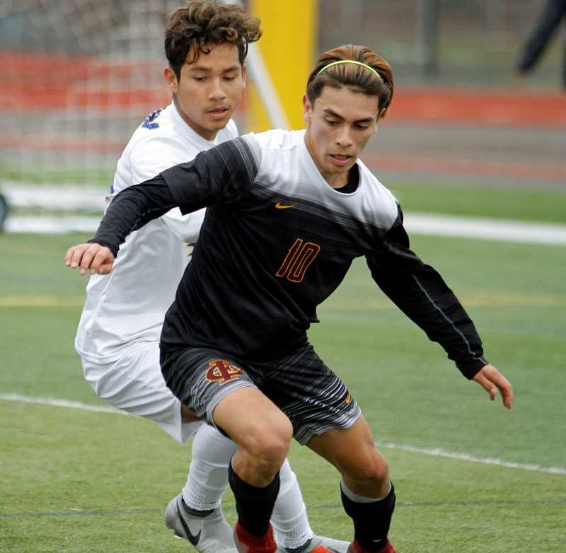 STAFF PHOTO: WADE EVANSON - Forest Grove senior Oscar Macias was selected as the Pacific Conference Player of the Year.