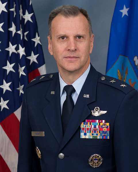 CONTRIBUTED PHOTO - Maj. Gen. Randall Ogden, commander of the Fourth Air Force and a 1979 graduate of Estacada High School, will be the grand marshal of the towns Veterans Day parade on Sunday, Nov. 11.