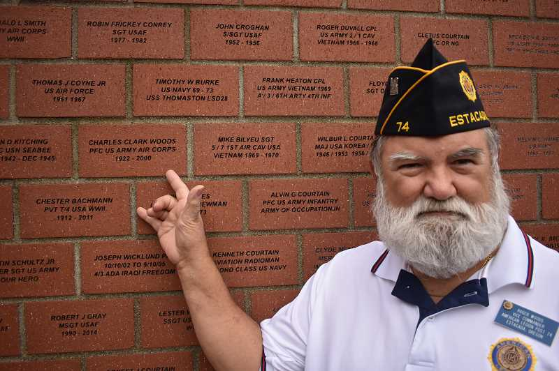 ESTACADA NEWS PHOTO: EMILY LINDSTRAND - Roger Woods, vice commander of the Estacada American Legion Carl Douglas Post, served in the U.S. Air Force during the Vietnam War.
