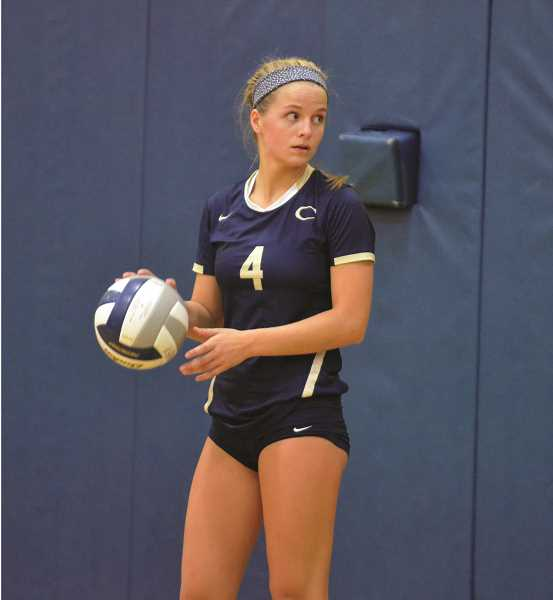 ARCHIVE PHOTO: TANNER RUSS - Canby junior setter Ruby Kayser