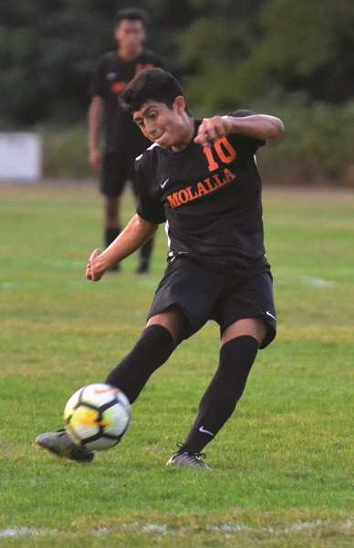 ARCHIVE PHOTO: TANNER RUSS - Molalla senior Miguel Maldonado named League Player of the Year.