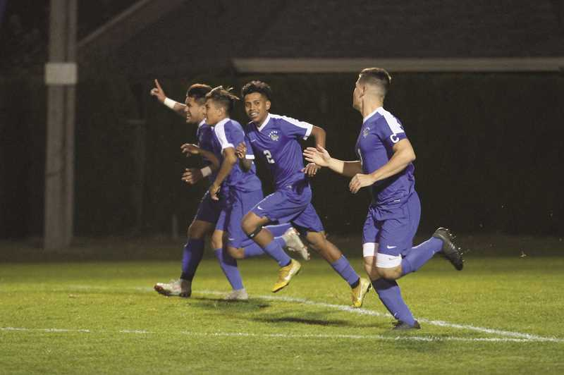 PHIL HAWKINS - The Woodburn boys soccer team will make its seventh state championship apperance since 2010, but its first as a 4A team, after defeating the Madras White Buffaloes 6-0 on Tuesday.