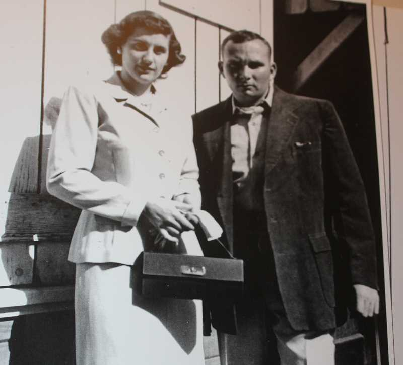 SUBMITTED PHOTO - Clyde Wright with his wife Elizabeth.