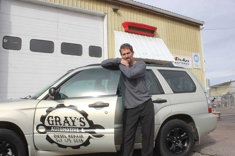 SUSAN MATHENY/MADRAS PIONEER - Josh Gray worked for Cliff's Auto for 14 years, and now has opened his own business.