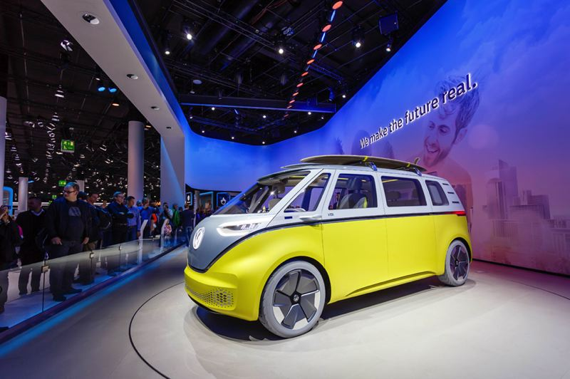 COURTESY OF MARCO VERCH, FLICKRCC - Fans of electric vehicles (EVs) can't wait for Volkswagen's prototype I.D. Buzz — an all-electric revamp on the iconic VW bus — to become a production model within the next couple of years.