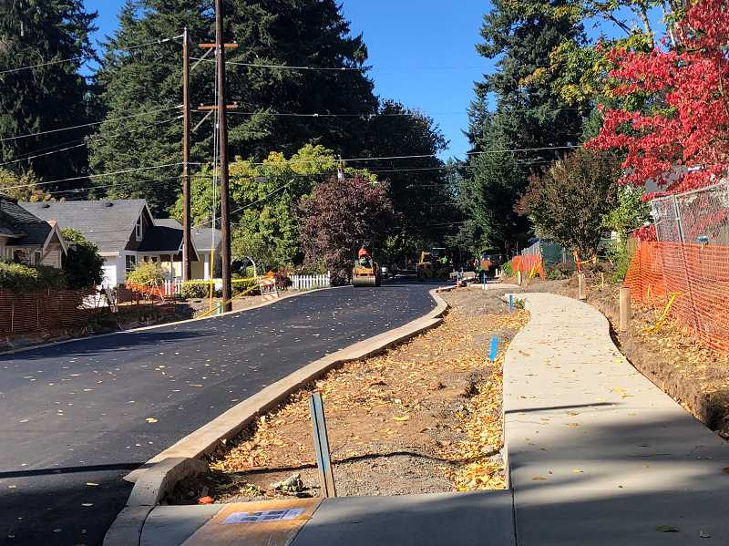 PHOTO COURTESY OF CITY OF LAKE OSWEGO  - Landscaping between the new sidewalk and D Avenue will take place throughout November and December, City officials say,