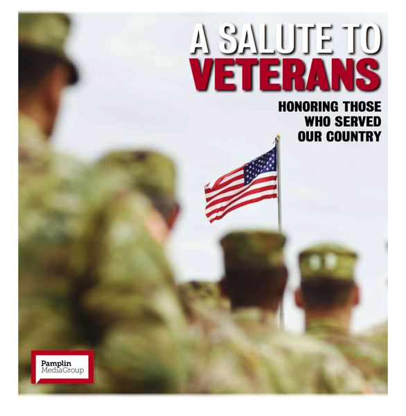 The Pamplin Media Group's annual Salute to Veterans special section will insert into the November 14 edition of the Wilsonville Spokesman.