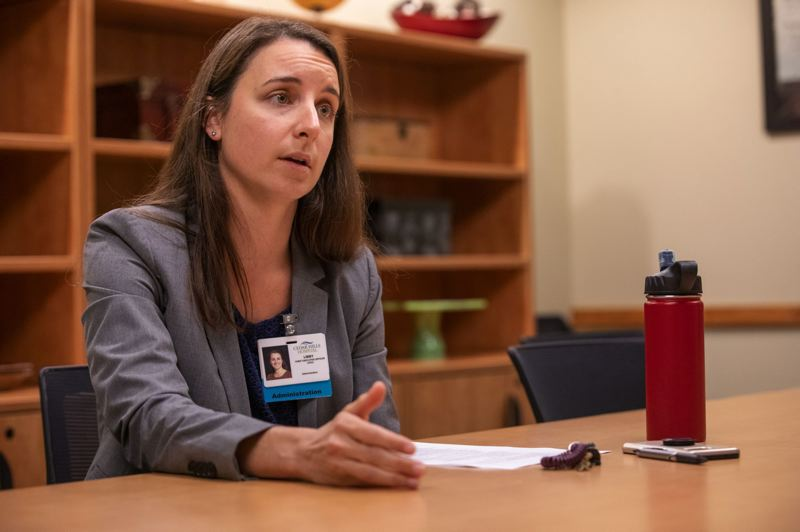 TRIBUNE PHOTO JONATHAN HOUSE - Cedar Hills Hospital CEO Libby Hutter says her facility has seen a steady increase in the severity of the behavioral health challenges its patients face. She says their families tell 'heartbreaking' stories of being shuffled between providers before people get help.