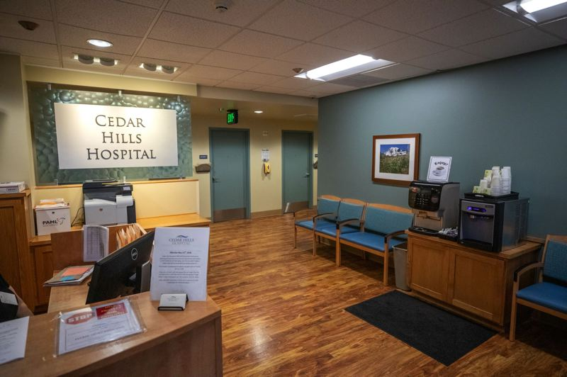 TRIBUNE PHOTO: JONATHAN HOUSE - The intake and assessment rooms at Cedar Hills Hospital are just off the front lobby, not far from the facility's front door. Christopher Adrian Garcia escaped from the low-security hospital in mid-assessment, before he was fully admitted for treatment.