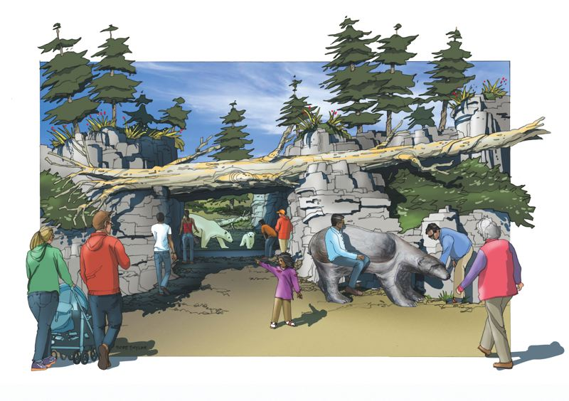 COURTESY: CLR DESIGN - Polar Passage, the new home for polar bears at the Oregon Zoo, is slated for completion in 2020.