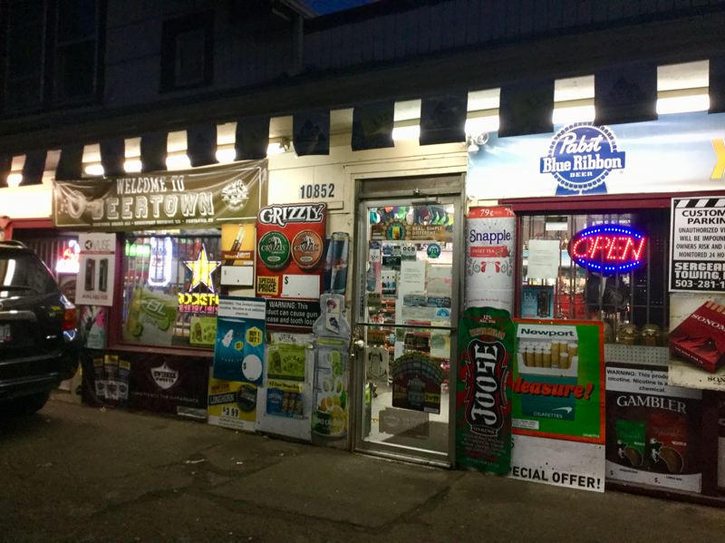 PORTLAND TRIBUNE: STEVE LAW - This mini-mart fronting Stark Street is part of Stark Firs, an older mobile home park with 33 spaces in East Portland.