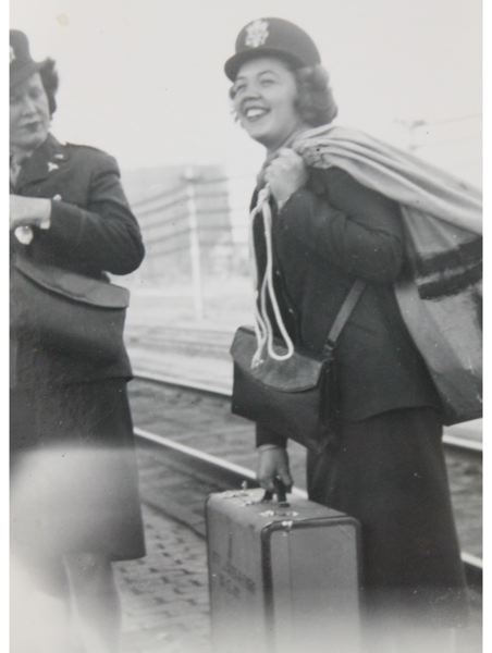 CONTRIBUTED PHOTO - Lt. Betty Carter in August 1944, as she prepares to board a ship that would take her on an 11-day voyage to Liverpool, England, with the U.S. Army.