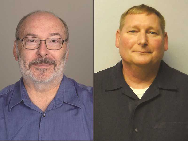 COURTESY PHOTOS - Donald Mayor Rick Olmstead (left) has been defeated by City Councilor Brad Oxenford in the November election for mayor.