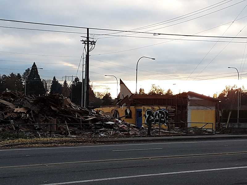 COURTESY OF NICK PITZ - By the time the sun set Friday, the Mad Greek Deli at 185th Avenue and West Union Road, was a memory.