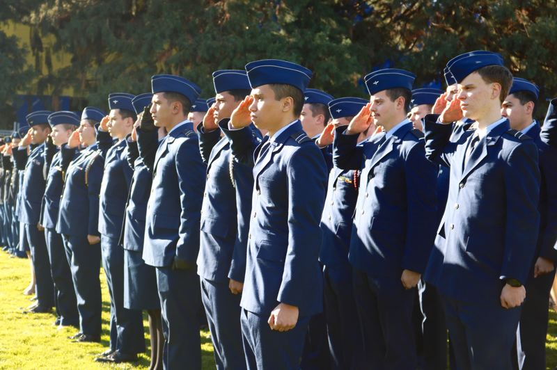 TRIBUNE PHOTO: ZANE SPARLING - ROTC student-soldiers at the University of Portland will serve in the U.S. Air Force and Military after they complete their studies.