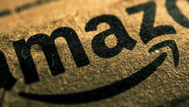 CREATIVE COMMONS PHOTO - The Amazon logo is shown here in on a shipping container.