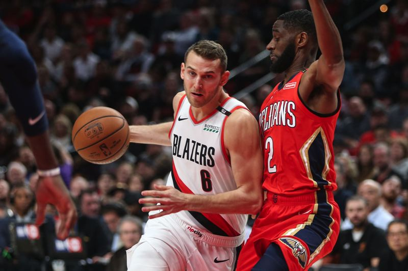 TRIBUNE PHOTO: DAVID BLAIR - New addition Nik Stauskas has bolstered the Trail Blazers' long-range shooting and joined a productive Portland bench, but there is more to his game than 3-pointers.