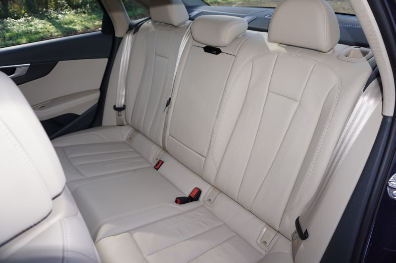 PORTLAND TRIBUNE: JEFF ZURSCHMEIDE - Back seat passengers will be pleased with the room and comfort in the new Audi A4.