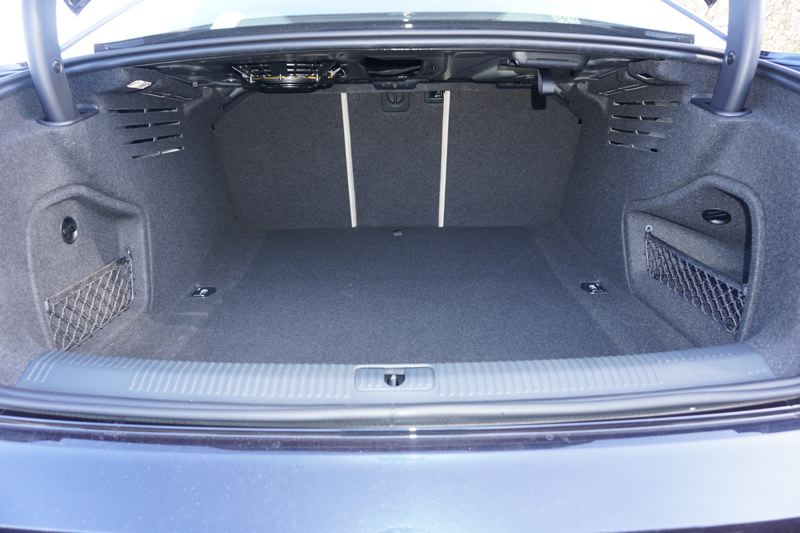 PORTLAND TRIBUNE: JEFF ZURSCHMEIDE - The Audi A4 offers more than enough trunk space for long family trips.