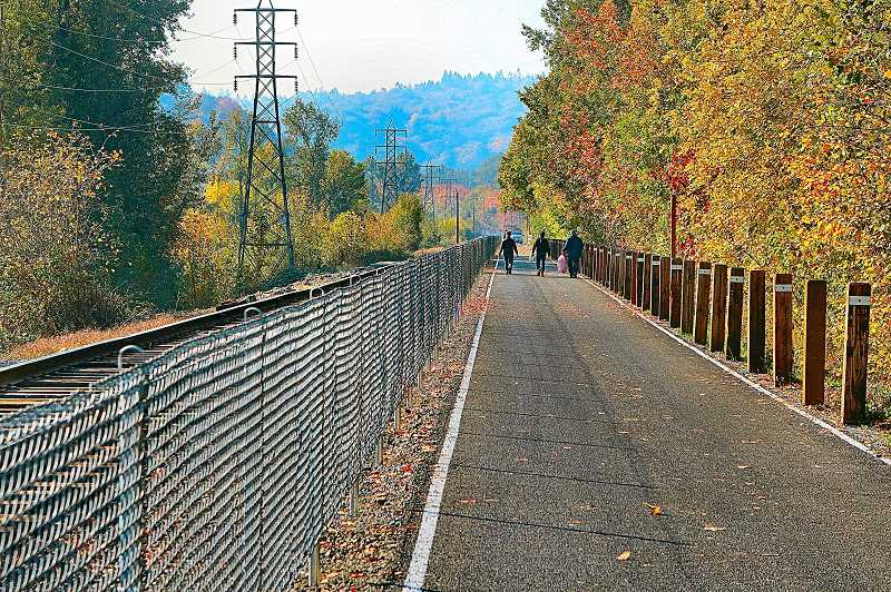 DAVID F. ASHTON - The Springwater Corridor Trail reopened on Halloween - a day ahead of schedule.