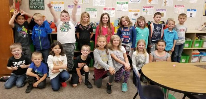 Vanessa Mohler's second-grade class at Holcomb Elementary School in Oregon City