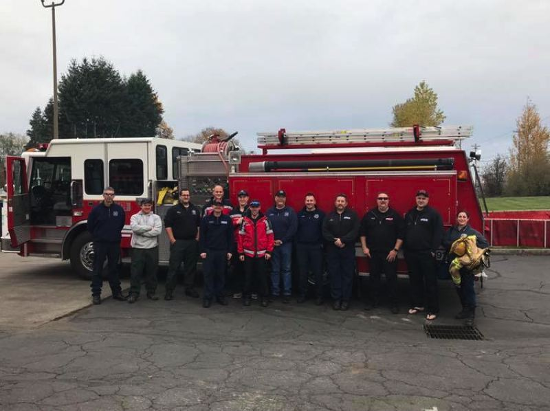 PHOTO COURTESY OF COLUMBA RIVER FIRE AND RESCUE AND SCAPPOOSE FIRE DISTRICT - Columbia County firefighters were sent to help with firefighting efforts in California last week. The task force is expected to be mobilized for 14 days.