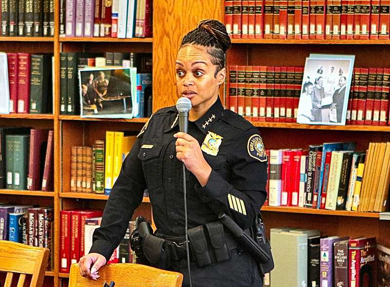 DAVID F. ASHTON - Dealing with the Bureaus current major challenges cant be done with cookie-cutter responses, Chief Outlaw remarked, in her Warner Pacific University appearance.