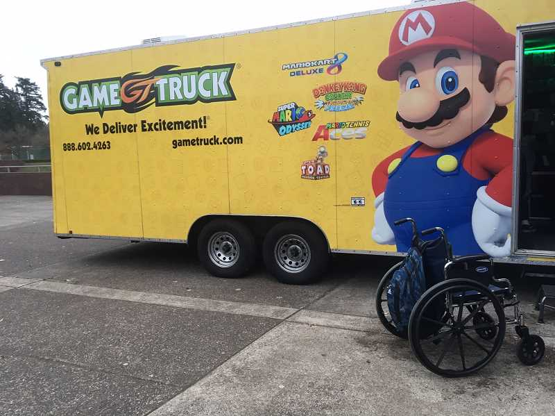 SPOKESMAN PHOTO: CLARA HOWELL  - The GameTruck van is a mobile video game rental service that allows students to play different video games.
