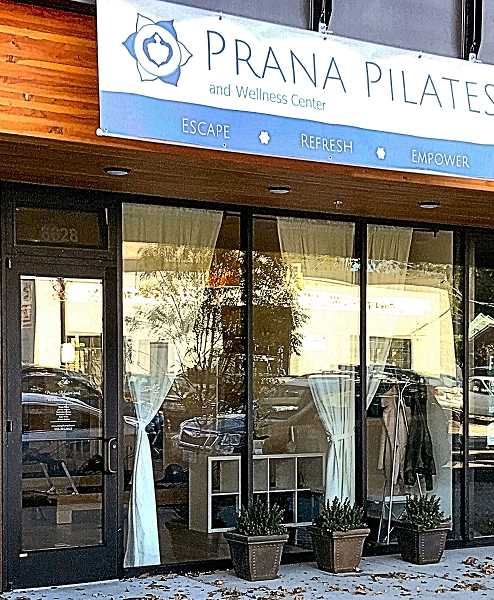The entrance of Prana Pilates and Wellness; its now open at 8623 S.E. 17th Avenue.