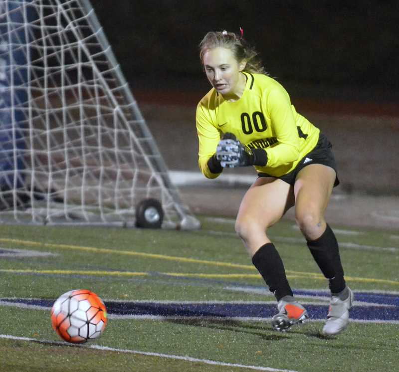 ARCHIVE PHOTO: TANNER RUSS - Junior goalkeeper Kendall Taylor earned second team all-league honors.