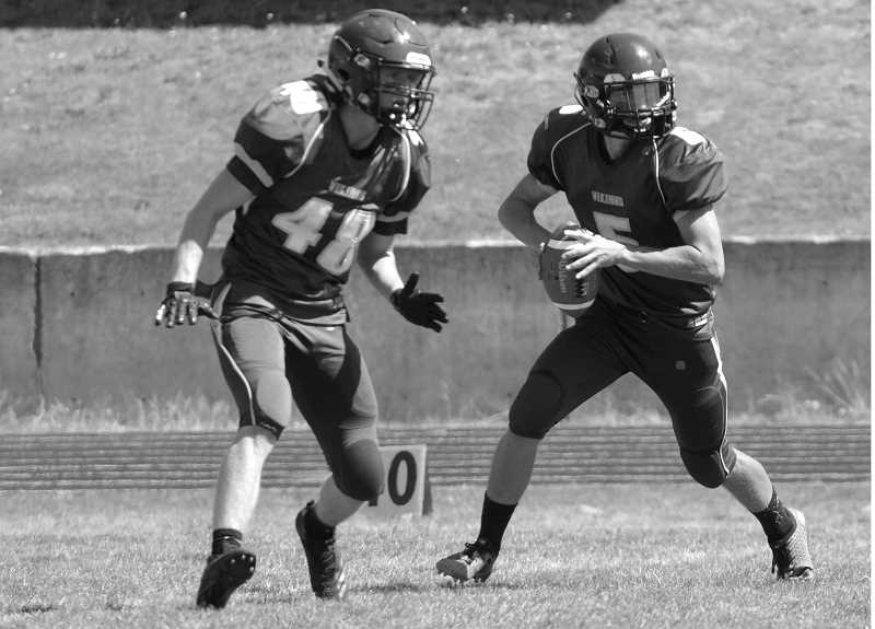 ARCHIVE PHOTO: TANNER RUSS - Colton's Wyatt Earls (right) and Cameron Phillips (left)