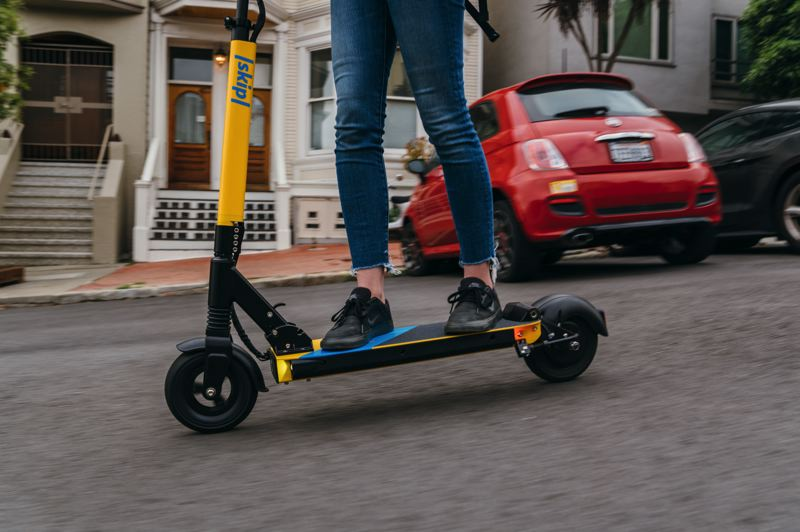 COURTESY PHOTO: SKIP - E-scooter company Skip faces $9,000 in city fines because Portland Bureau of Transportation officials said it violated rules of a scooter pilot program.