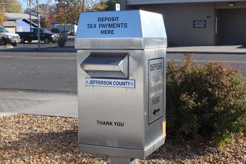 HOLLY M. GILL/MADRAS PIONEER - Property tax payments are due Nov. 15, at the Jefferson County Assessor's Office in the courthouse annex, or in the drop box outside the annex.