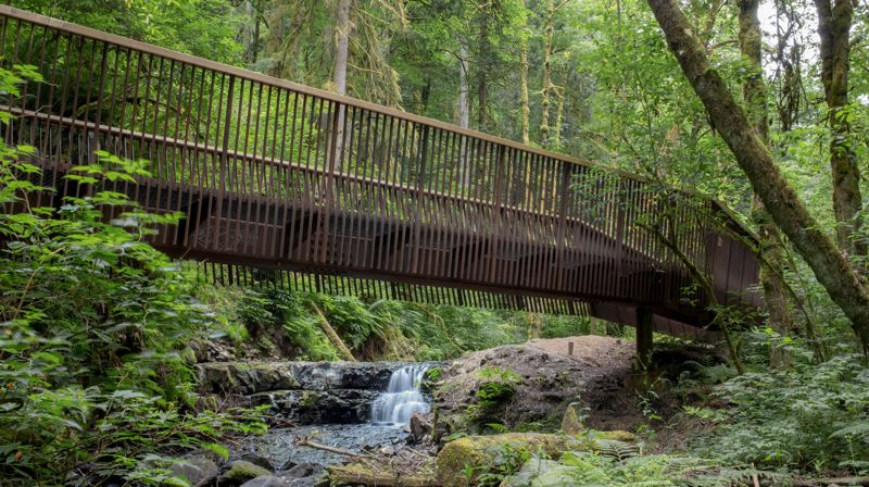 PHOTO: CALEB COUCH - The honor award in the small projects category went to Fieldwork Design & Architecture for Forest Park Bridges, three pedestrian bridges assembled from a new language of components.