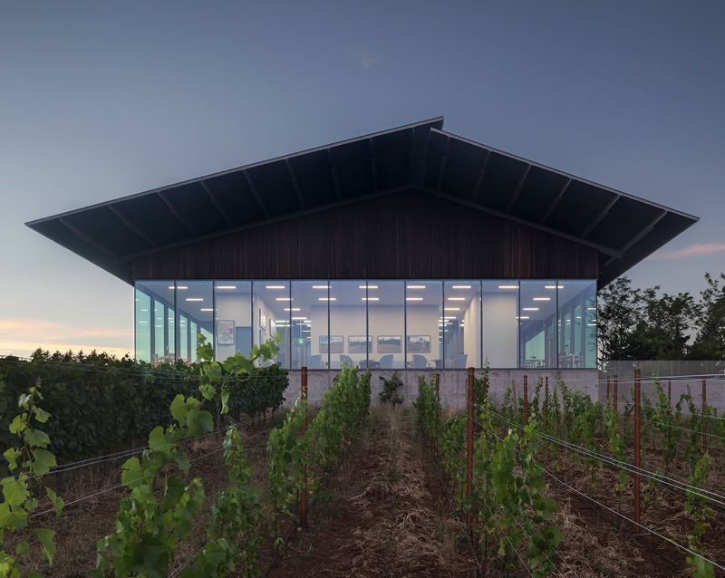 PHOTO: LARA SWIMMER - An honor award went to Ben Waechter and Waechter Architecture for the tasting room at Furioso Vineyards, a remodel, in Dundee, Oregon.