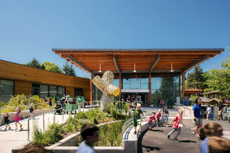 PHOTO: JEREMY BITTERMANN - Oregon Zoo Education Center by Opsis Architecture, winner of the 2030 award.
