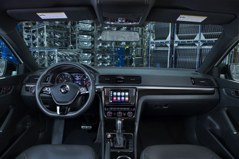 VOLKSWAGEN OF AMERICA - The interior of the 2018 Passat GT is classic Volkswagen, with clean lines and controls that are easy to fund and use.