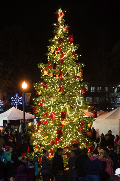 STAFF PHOTO: CHRISTOPHER OERTELL - Downtown Hillsboro's holiday tree glows and glitters last year.