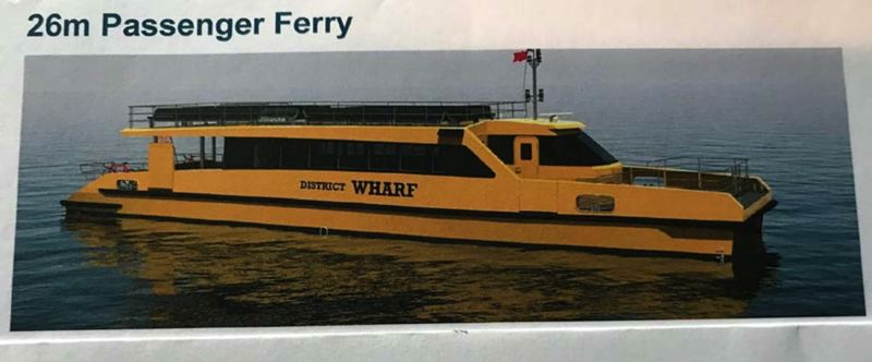 COURTESY FROG FERRY - Frog Ferry backers say a ship similar to this one already in service could take hundreds of cars off congested areas of Interstate 5 each day.