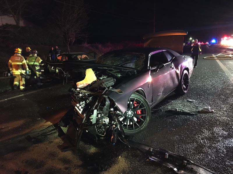 COURTESY PHOTO: WASHINGTON COUNTY SHERIFF'S OFFICE - A deadly head-on crash occurred on Highway 8 in between Hillsboro and Cornelius Saturday evening.