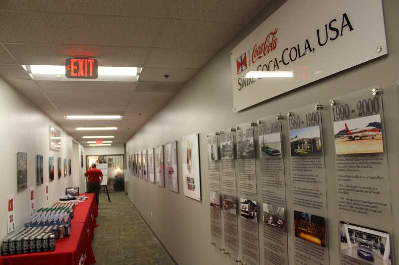 Swire Coca-Cola, USA hosted a Chamber of Commerce event to show off the new building Wednesday, Nov. 14.