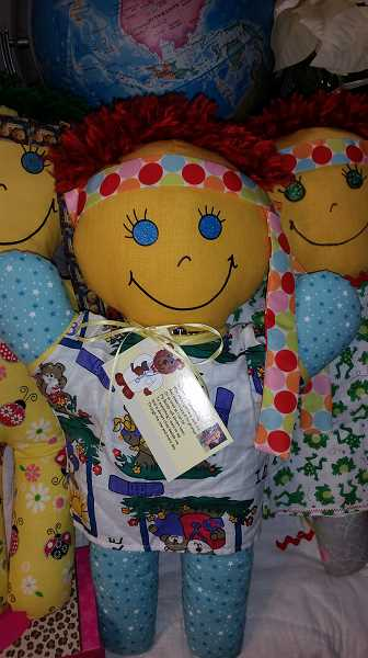 SUBMITTED PHOTO  - Trenee' Zweigle handcrafts many different types of dolls. This one is the Therapy Buddy.