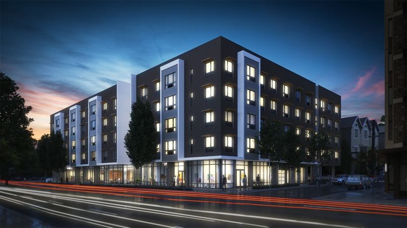 COURTESY: CARLETON HART ACHITECTURE AND ATOMIC SKY - The Beatrice Morrow Building will serve low-income Portlanders who were displaced from - or are at risk of being displaced from - the Portland Eliot neighborhood where the affordable housing project is located. Tenants eventually may have an opportunity to advancet to home ownership.