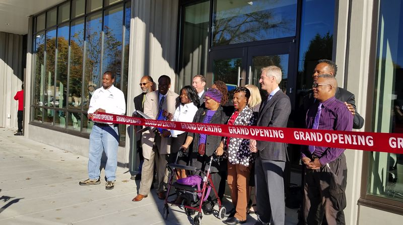 COURTESTY: ROBIN MOODIE/CARLETON HART ARCHITECTURE - A grand opening for the Beatrice Morrow was held earlier this month. The city of Portland will fill the apartments with tenants using a policy that will give preference to people who have been displaced from the area.
